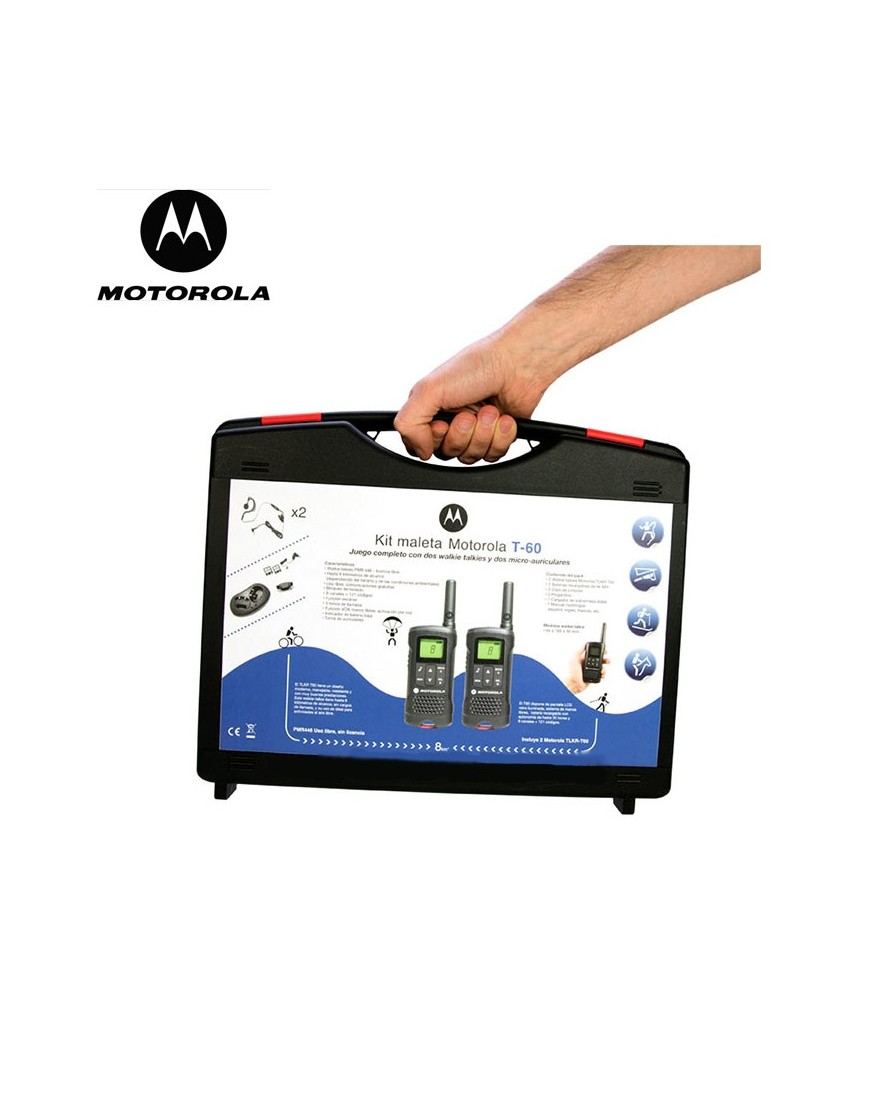 KIT MALETA MOTOROLA WALKIES T-60