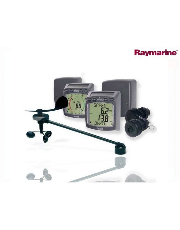 SISTEMA INALÁMBRICO DE VIENTO, CORREDERA Y PROFUNDIDAD PARA CRUCEROS RAYMARINE Tacktick T104