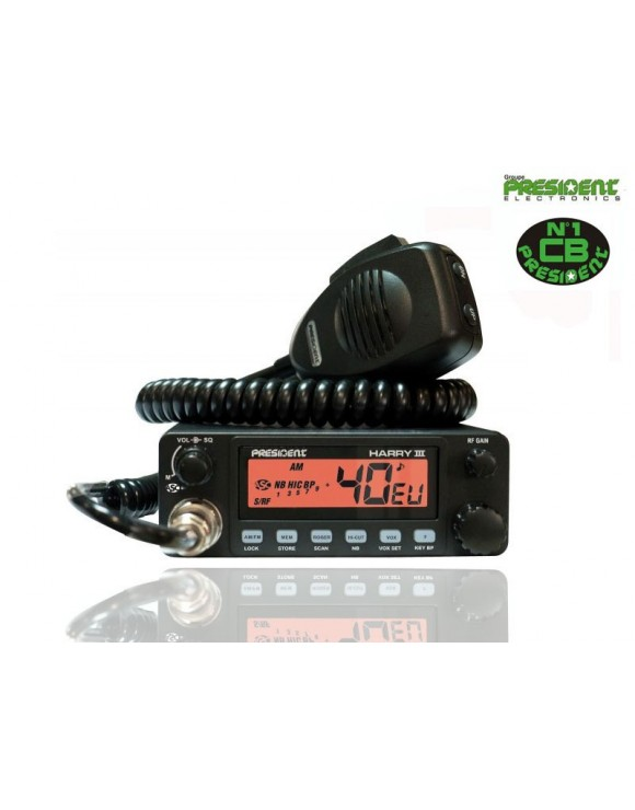 EMISORA CB PRESIDENT HARRY III ASC 40 CX AM/FM