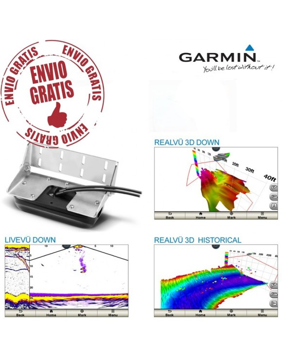 TRANSDUCTOR PANOPTIX PS30 GARMIN DOWN IMAGING