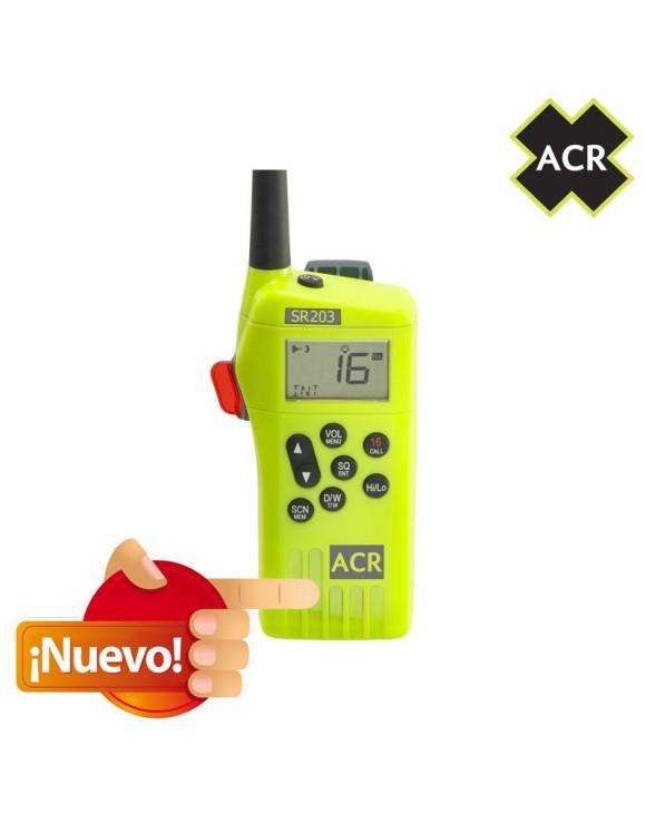 Radio de supervivencia de muy alta frecuencia ACR (VHF) SR203 GMDSS