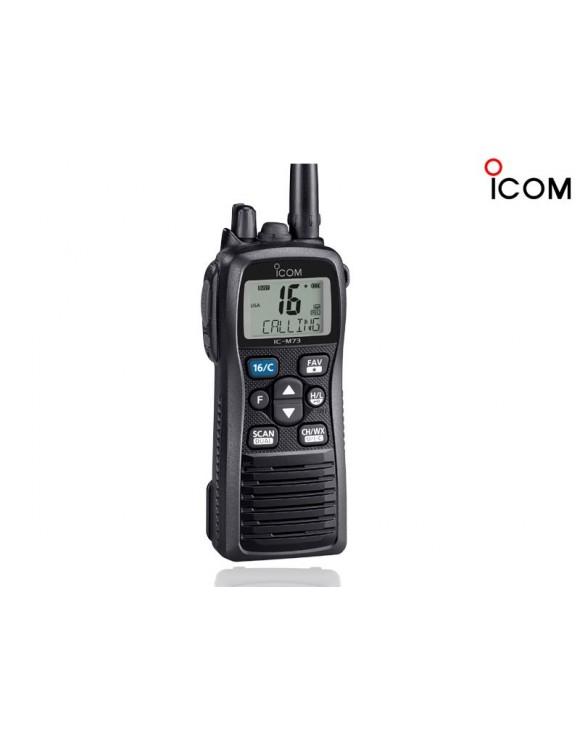 RADIOTELÉFONO PORTÁTIL MARÍTIMO VHF NO SOLAS ICOM M73 EURO