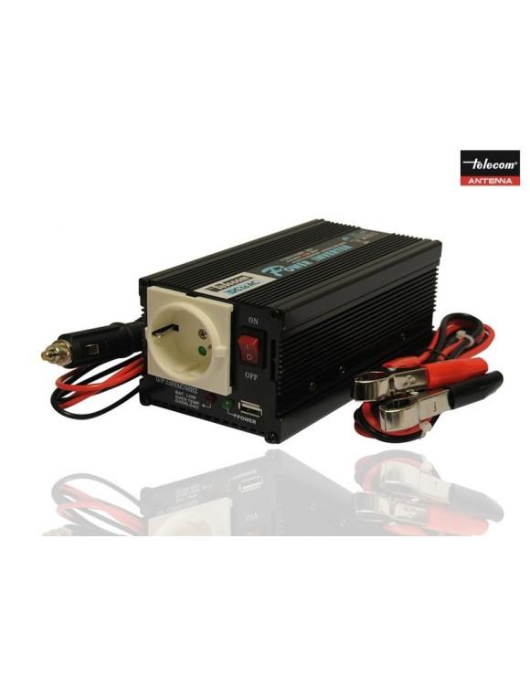 INVERSOR  TELECOM DC/AC 24V /220V /400 W CON USB